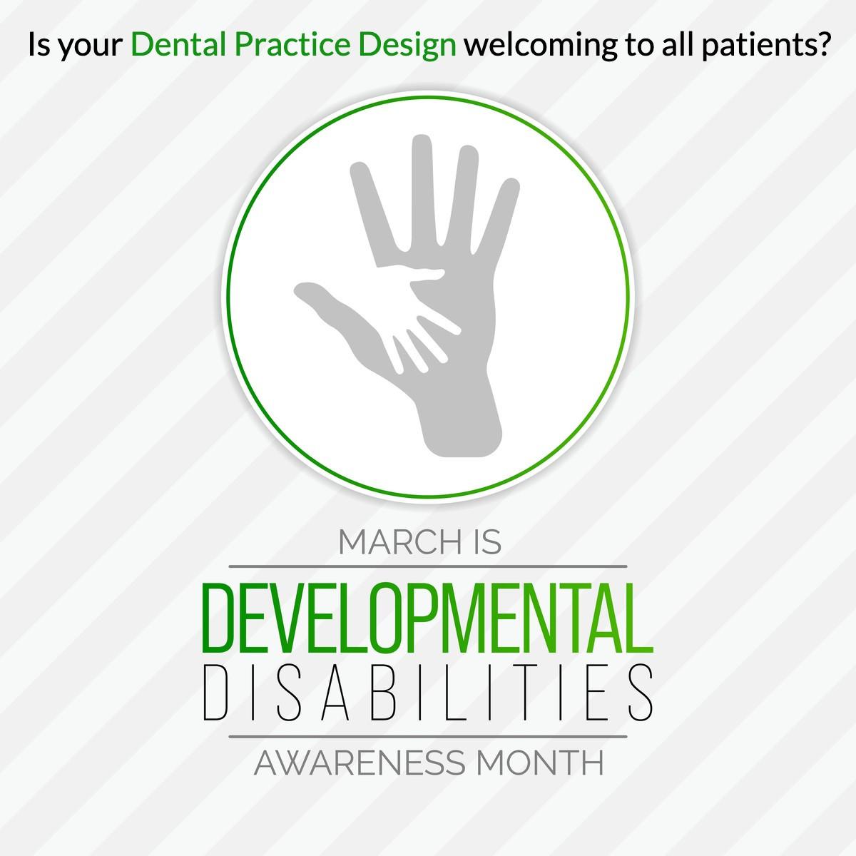 Dental Practice Design by Benco Dental Design with Developmental Disabilities Awareness Month image